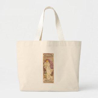French Art Nouveau Camellias - Alphonse Mucha Large Tote Bag