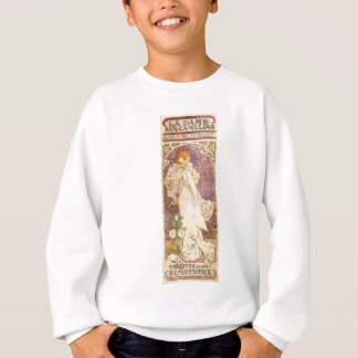 French Art Nouveau Camellias - Alphonse Mucha Sweatshirt