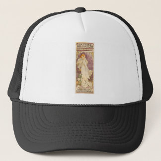 French Art Nouveau Camellias - Alphonse Mucha Trucker Hat