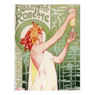 "French art nouveau poster ""absinthe Robette"" Postcard"