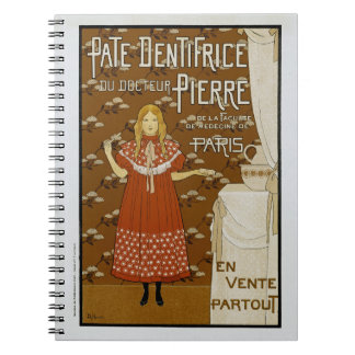 French Art Nouveau Toothpaste Ad Spiral Note Books