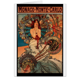 French Art Nouveau Travel Poster Card