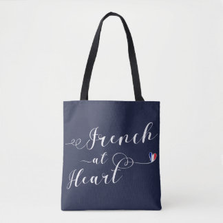 French At Heart Grocery Bag, France Tote Bag