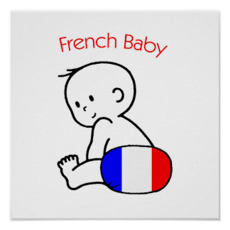 French Baby Poster