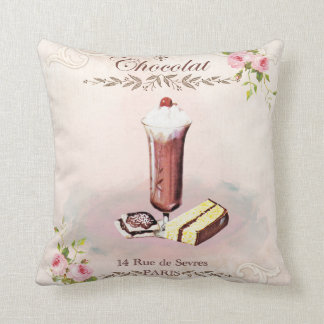 French Bakery Sweets Throw Pillow