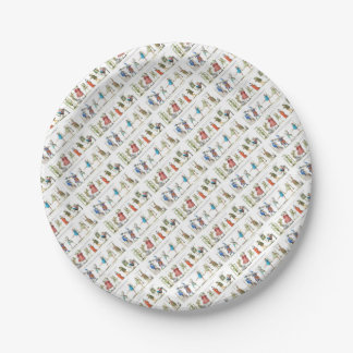 French Ballet Characters Vintage Paper Plate