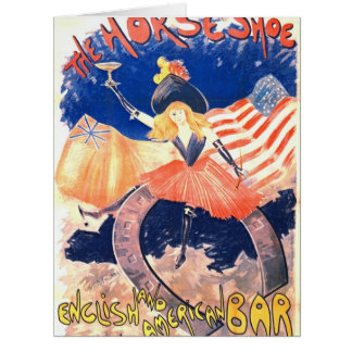 French Bar Ad 1890 Big Greeting Card