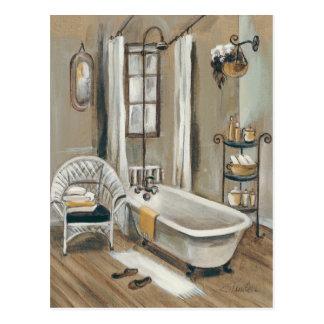 French Bathroom with Bathtub Post Cards