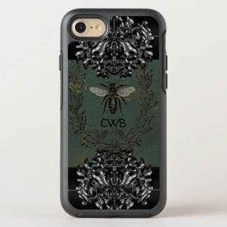 French Bee Cool  Protective  Monogram OtterBox Symmetry iPhone 8/7 Case