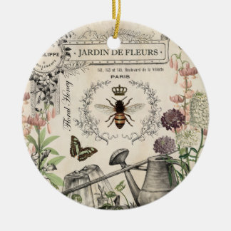 FRENCH BEE GARDEN CERAMIC ORNAMENT