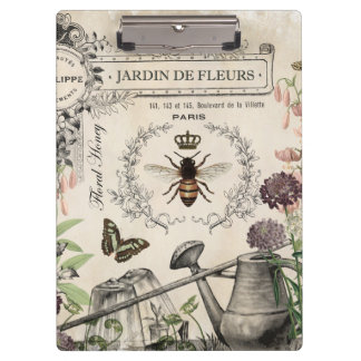 FRENCH BEE GARDEN CLIPBOARD