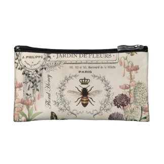 FRENCH BEE GARDEN COSMETIC BAG