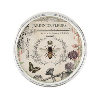 FRENCH BEE GARDEN LAPEL PIN