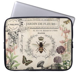FRENCH BEE GARDEN LAPTOP SLEEVE
