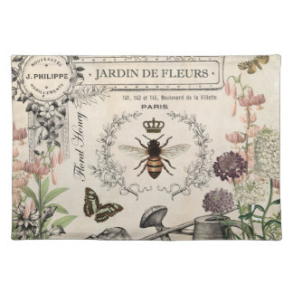 FRENCH BEE GARDEN PLACEMATS