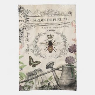 FRENCH BEE GARDEN TEA TOWEL