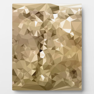 French Beige Abstract Low Polygon Background Plaque