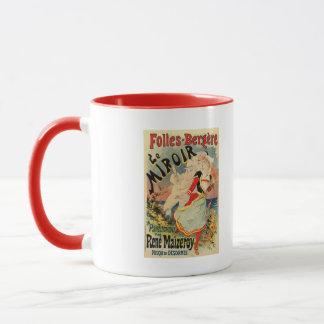 French belle epoque mime theatre advertising mug