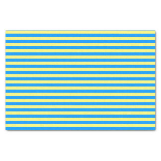 French Blue and Yellow Stripes Tissue Paper