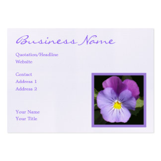 French Blue Purple Pansy Business Card