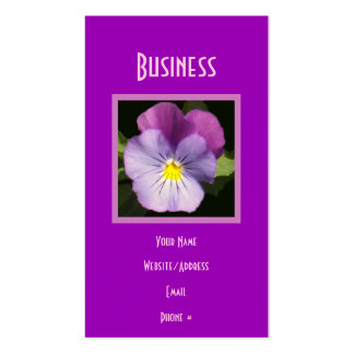 French Blue Purple Pansy Business Cards