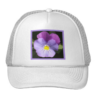 French Blue Purple Pansy Trucker Hat