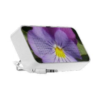 French Blue Purple Pansy iPod Speaker