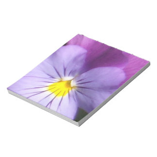 French Blue Purple Pansy Memo Note Pad