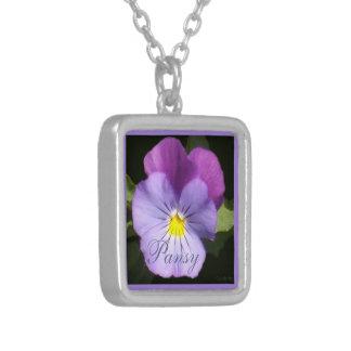 French Blue Purple Pansy Custom Jewelry