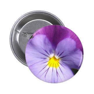 French Blue Purple Pansy Pinback Button