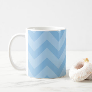 French Blue/Sky Blue Pretty Chevron Pattern Mug