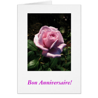 French-Bon Anniversaire Card