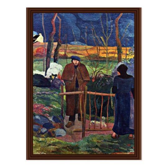French: Bonjour Monsieur Gauguin (Ii), Good Mornin Postcard