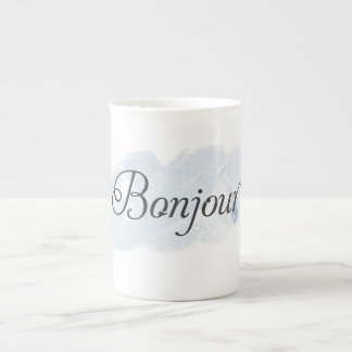 French Bonjour Tea Cup