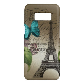 french botanical floral  paris eiffel tower Case-Mate samsung galaxy s8 case