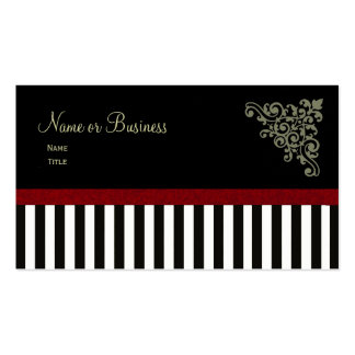 French Boutique ~ Business Cards Painted Red