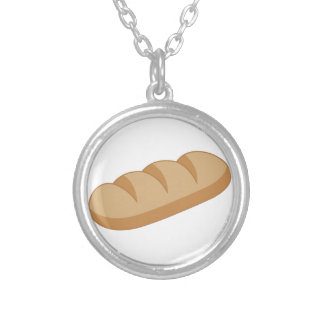 French Bread Round Pendant Necklace