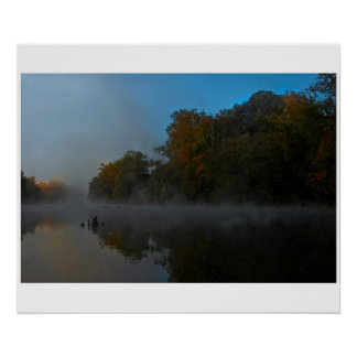 French Broad River Fog Poster