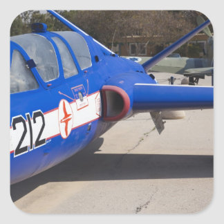 French Built Fouga Magister trainer Square Sticker