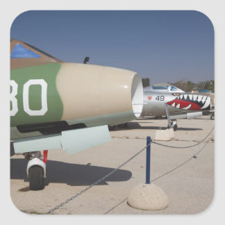 French-built Mystere fighter Square Sticker