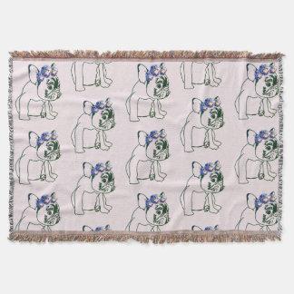 French Buldog Puppy, Sweet Throw Blanket
