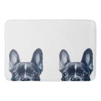 French bull dog bath mat