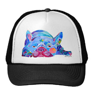 French Bull Dog in Blues Cap