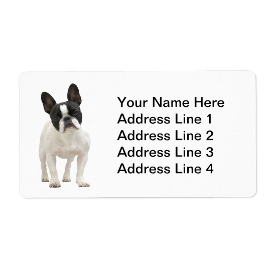 French Bulldog Address Labels