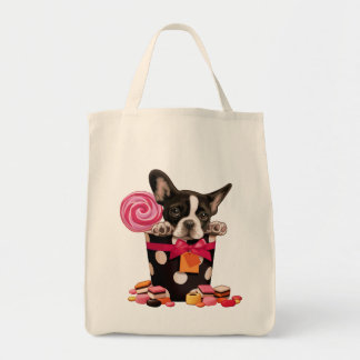 French bulldog and Candy Tote Bag