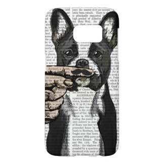 French Bulldog and Finger Moustache