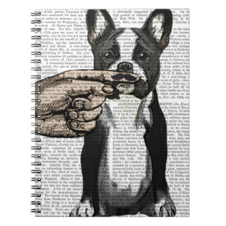 French Bulldog and Finger Moustache Notebook