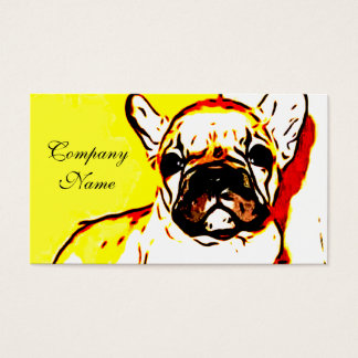French Bulldog Art Business Card