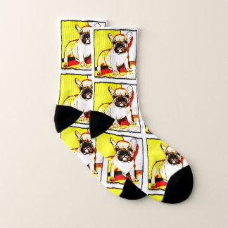 French Bulldog art dog socks