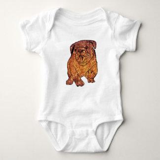 French Bulldog Art Jersey Bodysuit, White Baby Bodysuit